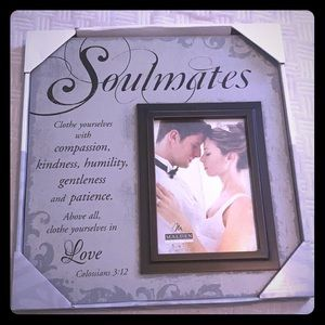 """Soulmates"" Wedding Picture Frame NWT"